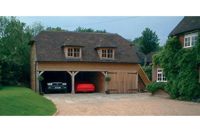 Crown oak buildings oak buildings green oak and garden rooms for Due bay garage