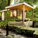 compact kitchen pods in bespoke timber garden buildings