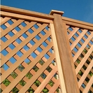 Cedar Diagonal Trellis Panel