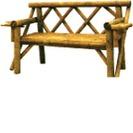 Round log Bench