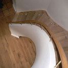 Oak Art Deco staircase