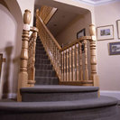 Staircase and balustrade in ash