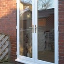 French doors in white profile