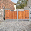 Wood Infill Gate