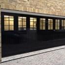 Black Side Sectional Sliding Door